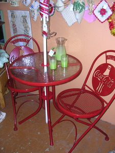 Coca Cola Patio Bistro Set With Umbrella