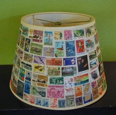 Postage Stamp lamp shade : Laura's space at MORE