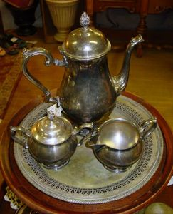 Leonard Silverplate Tea Set Vignette & Charming Leonard Silverplate Tea Set Photos - Best Image Engine ...